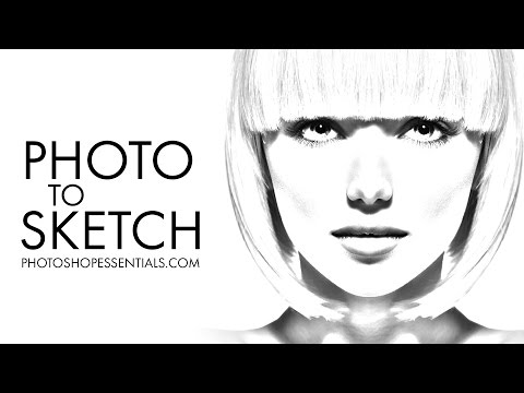 Photoshop Photo To Pencil Drawing and Sketch - Complete Guide