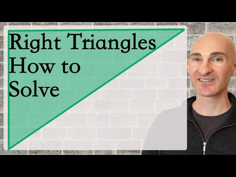Right Triangles How to Solve