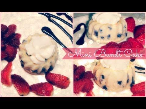 ♥ Mini Bundt Cake- Easy, Healthy Dessert ♥