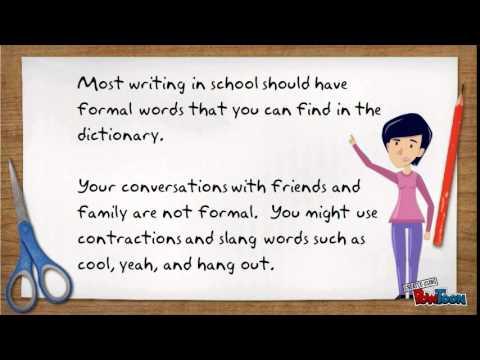 Spoken and Written English