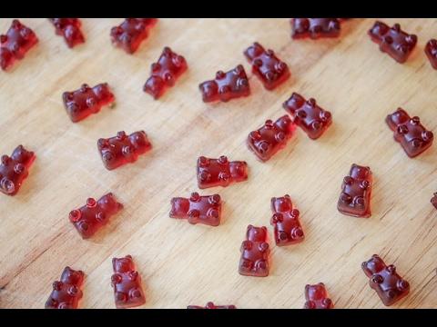 Healthy Homemade Gummy Bear Fruit Snacks