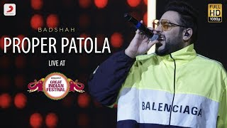 Proper Patola - Live @ Amazon Great Indian Festival | Badshah & Aastha | Namaste England