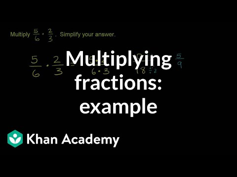 Multiplying two fractions: example | Fractions | Pre-Algebra | Khan Academy