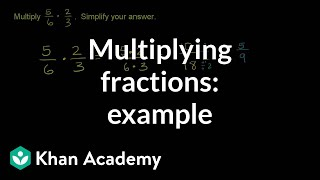 Multiplying Two Fractions Example Fractions Pre Algebra Khan Academy