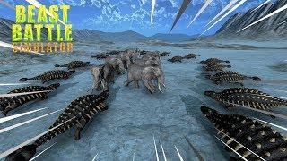 ELEFANTES VS DINOSSAURO LARGATÃO - Beast Battle Simulator