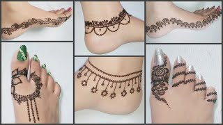Lovely Feet Henna Design Easy Simple Mehndi Design For Leg 2018