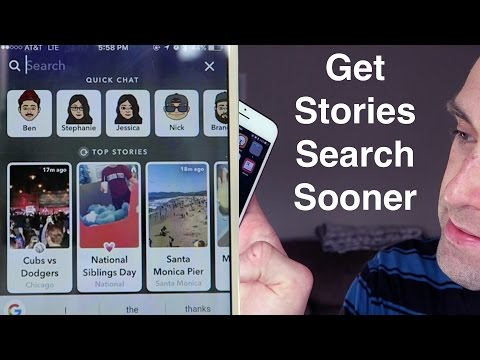 How To Get Snapchat Stories Search