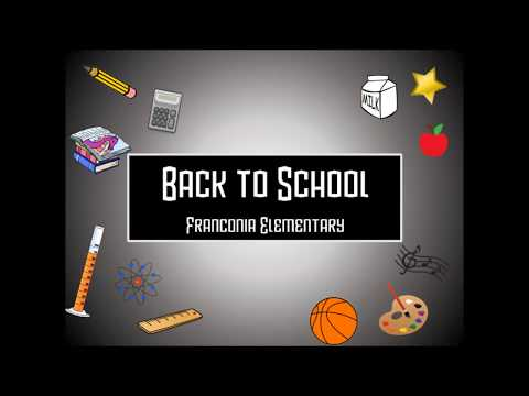 Back to School Night at Franconia Elementary School