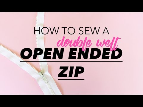 How to Sew an Open Ended Zip | Teach Me Fashion