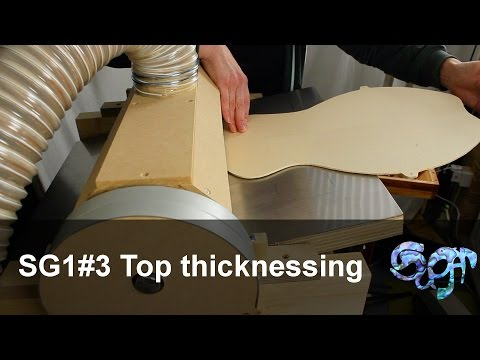 SuGar SG1acoustic guitar build part 3: Thicknessing the top plate
