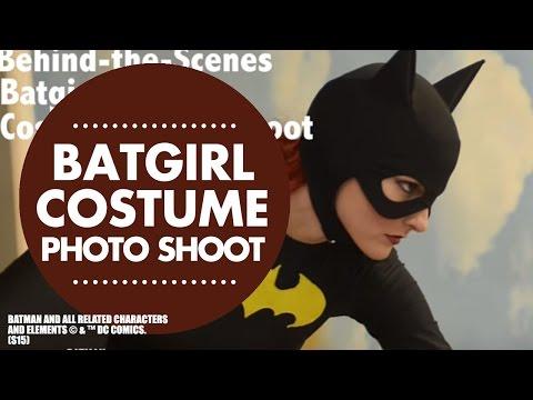 Behind the Scenes of Batgirl Costume Photo Shoot