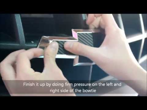 Camaro Carbon Fiber Bowtie Wrap Installation Guide - MnP Customs