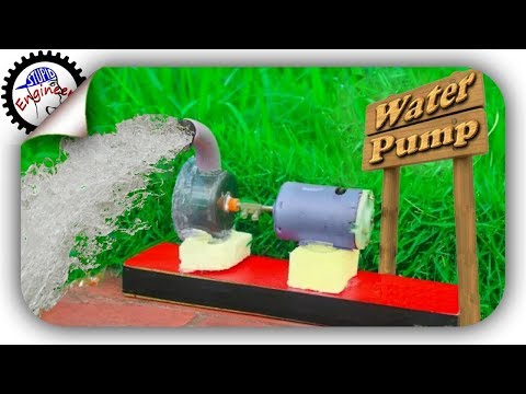 Diy water pump | mini water pump | homemade water pump | how to make a water pump | Stupid engineer