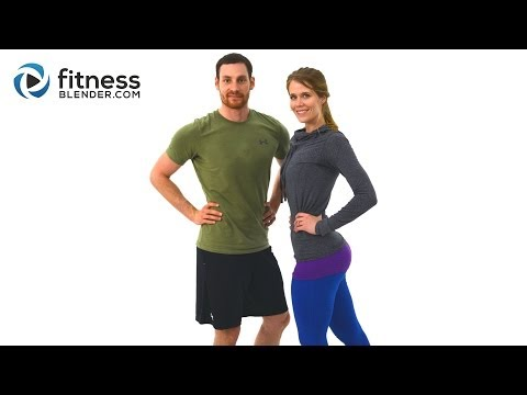 40 Minute At Home Butt and Thigh Workout - Lower Body Workout with Kelli and Daniel