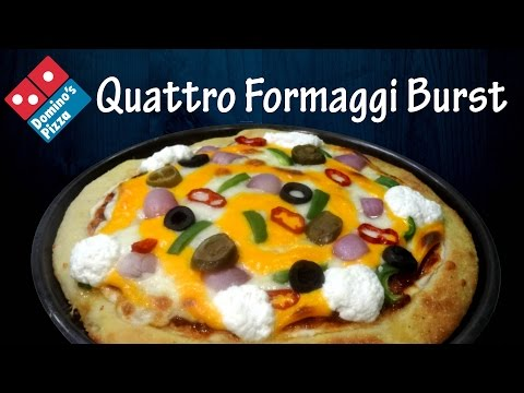 Make QUATTRO FORMAGGI Cheese Burst Pizza like Domino's | Cheesy crust |4 cheese pizza|yummylicious
