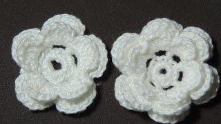 Flores de crochê - Flor de crochê Básica Modelo 2 (Canhotas)