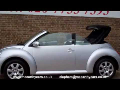 Used VW Volkswagen Beetle Convertible 2006 for sale Clapham Croydon UK Surrey London McCarthy Cars
