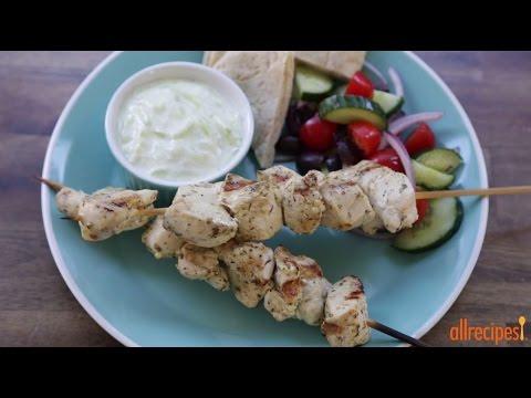 How to Make Chicken Souvlaki with Tzatziki Sauce | Chicken Recipes | Allrecipes.com
