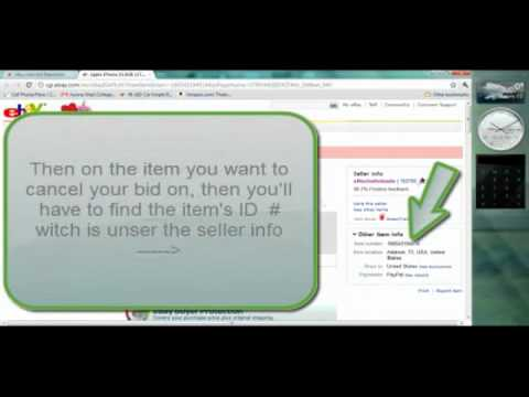 How to Cancel or Re-Track a bid on Ebay (2011)