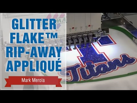 Glitter Flake™ Rip Away Appliqué for Embroidery
