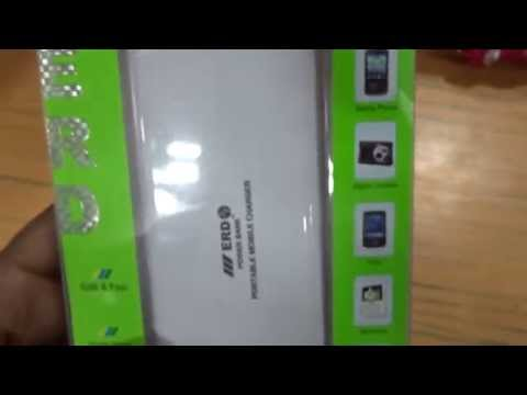 ERD 11000mAh Portable Mobile Charger - Power Bank support all android mobiles