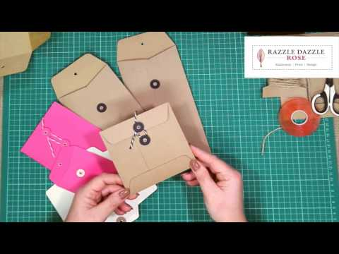 How to Make String Tie Envelope Tutorial