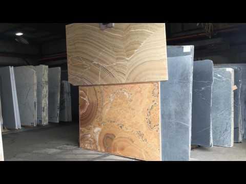 Natural stone onyx slabs in Seattle Washington.
