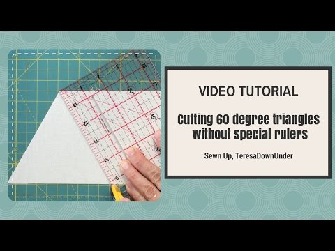 Video tutorial: Cutting 60 degree triangles without special rulers
