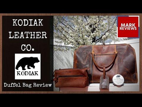 REVIEW - Kodiak Leather Co. Duffel Bag, Dop Kit, Leather Cream