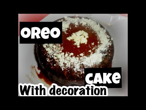 3 INGREDIENTS EGGLESS OREO CAKE WITHOUT OVEN | SUPER EASY CHOCOLATE CAKE | BISCUIT CAKE RECIPE