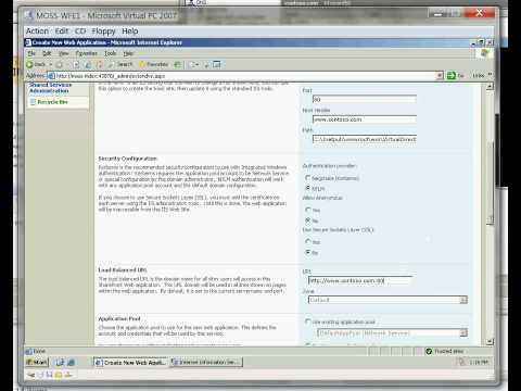 SharePoint Server 2007 - Part 7 Create first site collection