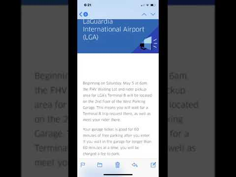 LGA Airport Charges Uber Drivers Parking Fee to Wait for Rides
