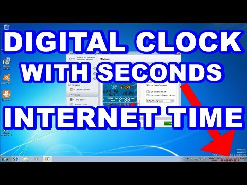 Atomic Alarm Clock|Digital Time Clock|Seconds Display in Windows|Internet Time|Sync Time With Server