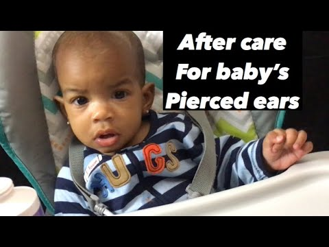 How to Properly clean and care for baby's pierced ears