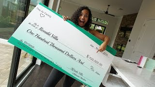 Biggest Surprise Ever!! Paying Off My Parents Mortgage With $100,000 Check!!! (VERY EMOTIONAL)