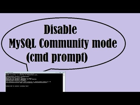 How to disable MySQL Community mode cmd prompt