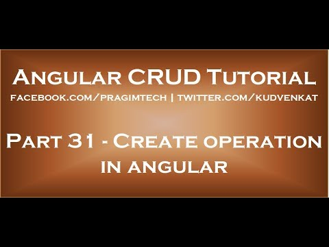 Create operation in angular