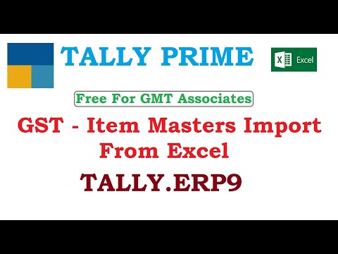 GST - Item Masters Import From Excel