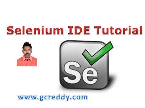 Selenium IDE Tutorial Part-1
