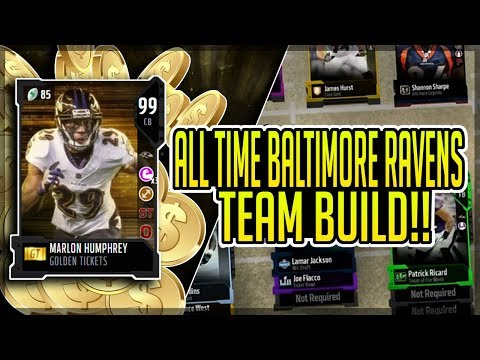 FOUR MILLION COIN SPENDING SPREE! ALL TIME BALTIMORE RAVENS TEAM BUILD! MADDEN 18 ULTIMATE TEAM