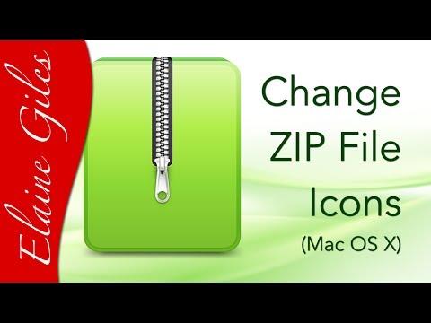 Change ZIP File Icons on Mac OS X