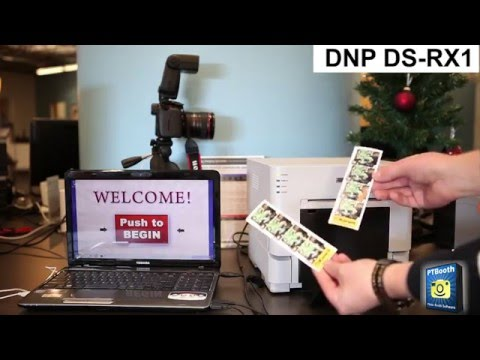 Photo Booth Printer - DNP DS-RX1 - 2x6 Cut Driver Demo with PTBooth
