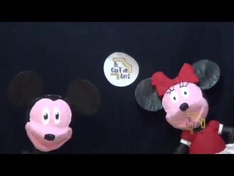 piñata de mickey y mimi mouse Decartón