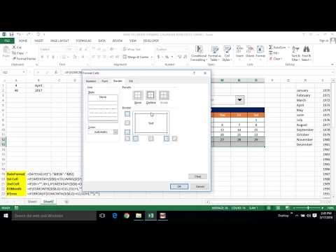 HOW TO CREATE A DYNAMIC CALENDAR IN MS EXCEL WITHOUT USING VBA CODE (TAMIL) | Kallanai YT