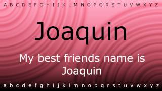 This Is How To Pronounce Joaquin With Ziramp4