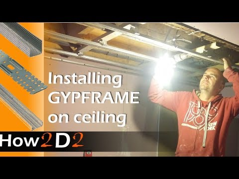 How to lower the ceiling Installing GYPFRAME for suspended ceiling GL8 GL1 GL2