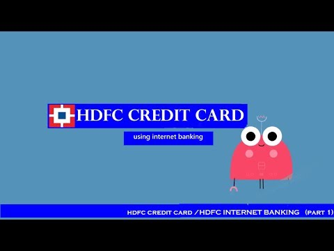 How to apply for a HDFC CREDIT CARD online? / HDFC INTERNET BANKING (PART 1)