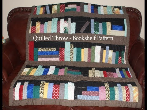 Quilted Throw Bookshelf Pattern