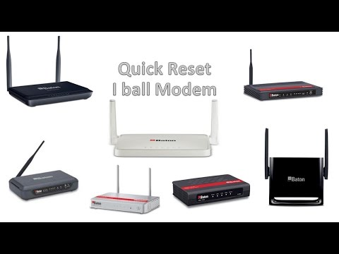 Quick Reset i ball baton modem easy way. (reset by outside i ball baton)