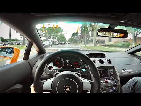 A Day in a 2007 Lamborghini Gallardo - Gated 6-Speed Sweetness (POV & Binaural Audio)